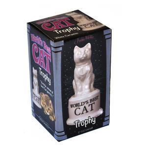 """World's Best Cat Trophy -  Ceramic Cat 5"""" / 12.7 cm Thumbnail 2"""