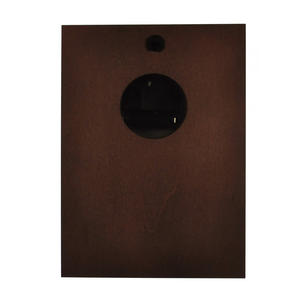 Spun Brass Bulkhead Tide Clock 110mm Mounted on Solid Wood with Brass Plate -1506TD/1 Thumbnail 2