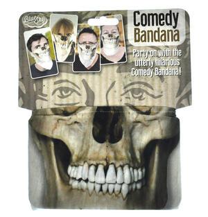Skull Comedy Bandana - One Size Stretchy Face Mask