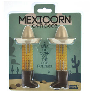 Mexicorn On The Cob - 2 Sets of Corn On The Cob Holders Thumbnail 1