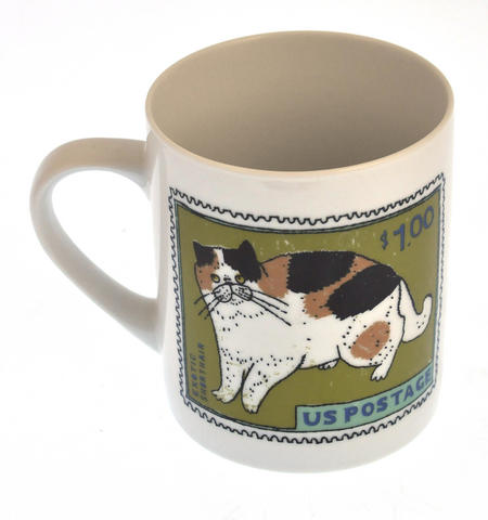 Exotic Blue - 1st Class Mug - Magpie Mug by Charlotte Farmer - Exotic Shorthair Cat & Blue Cat