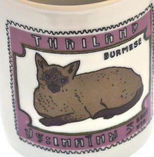 Burmese Doll - 1st Class Mug - Magpie Mug by Charlotte Farmer - Ragdoll Cat & Burmese Cat Thumbnail 3