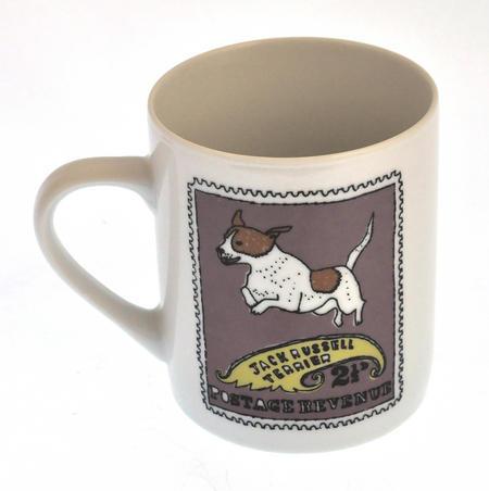 Gussell - 1st Class Mug - Magpie Mug by Charlotte Farmer - Jack Russell Terrier & Golden Retriever