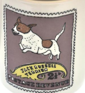 Gussell - 1st Class Mug - Magpie Mug by Charlotte Farmer - Jack Russell Terrier & Golden Retriever Thumbnail 3