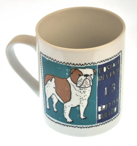 Boodle- 1st Class Mug - Magpie Mug by Charlotte Farmer - British Bulldog & French Poodle