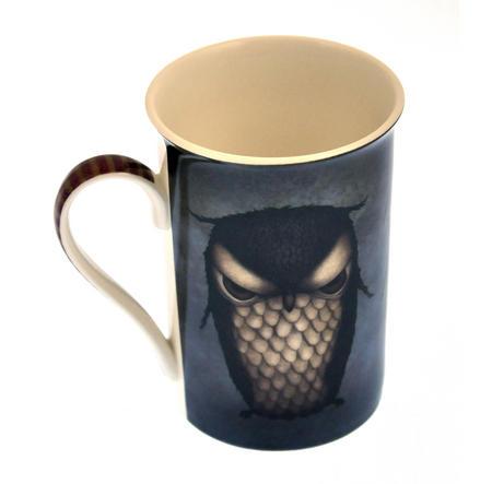 Grumpy Owl Tall Mug in a Gift Box