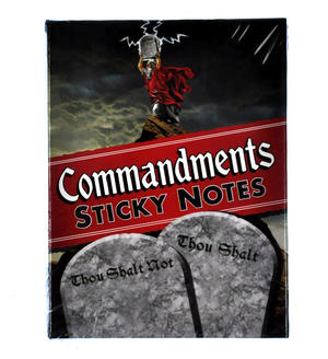 Commandments Sticky Notes - Thou Shalt / Thou Shalt Not Thumbnail 2