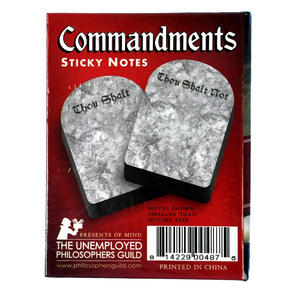 Commandments Sticky Notes - Thou Shalt / Thou Shalt Not Thumbnail 3