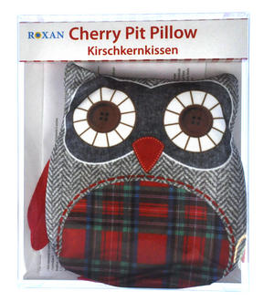 Owl Cherry Pit Pillow - Random Tartan or Floral - Microwavable Thumbnail 2