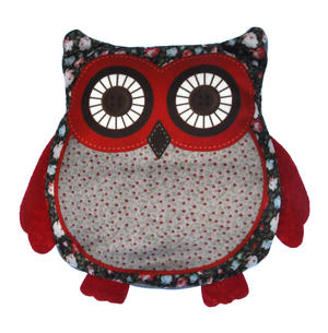 Owl Cherry Pit Pillow - Random Tartan or Floral - Microwavable Thumbnail 3