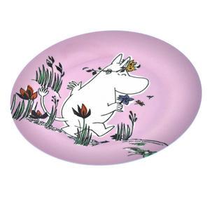 Moomin Pink Dessert Plate - Flowers Thumbnail 2