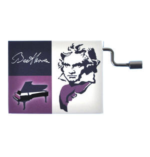 """Beethoven in a Box - """"Bagatelle Opus 119, Nr.1""""  Handcrank Music Box"""