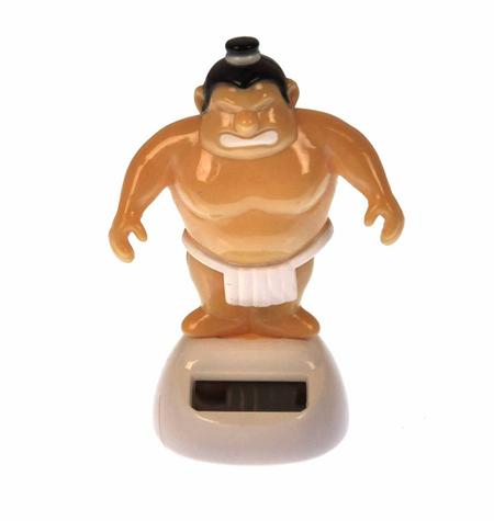Solar Sumo Wrestler - 10cm Movable Figurine with Solar Cell