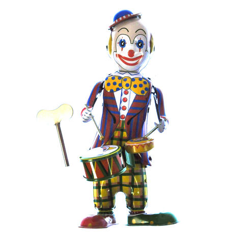 Classic Clockwork Clown Drummer