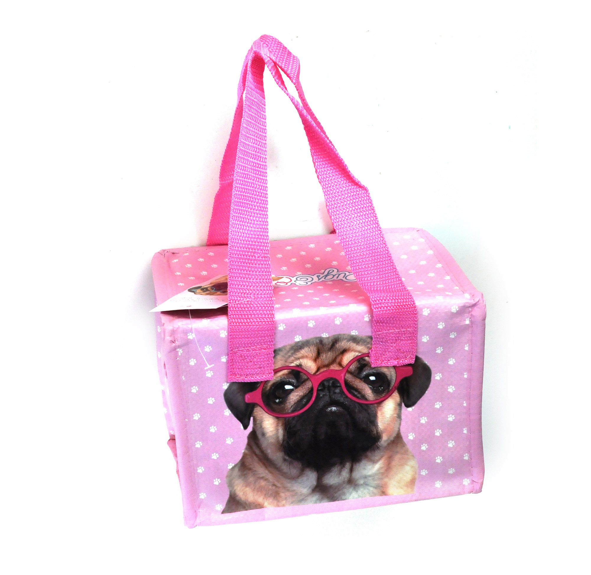 Pug Insulated Lunch Box Bag Pink Cat Shop