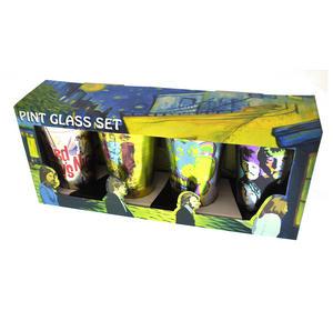 Beatles Metallic Pint Glass Set- 4 Classic Art Psychedelic Glasses Thumbnail 7