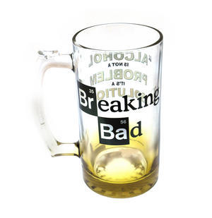 Breaking Bad Giant 2.5 Pint Beer Glass - Alcohol is Not the Problem. It is a Solution 2kg / 4.4lb Thumbnail 1