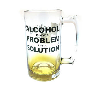 Breaking Bad Giant 2.5 Pint Beer Glass - Alcohol is Not the Problem. It is a Solution 2kg / 4.4lb Thumbnail 3