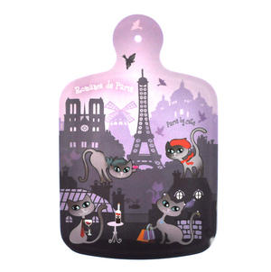 "Paris Cats Chopping Board - Melamine 34cm / 8.5"" X 13"" Thumbnail 2"