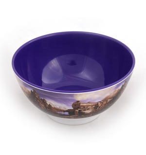Chocolate Train Land - Foodscape by Carl Warner - 15cm Diameter Melamine Bowl Thumbnail 2
