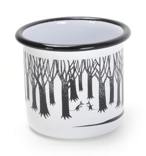 Groke - Black & White Moomin Muurla Enamel Mug - 3.7 cl Thumbnail 2