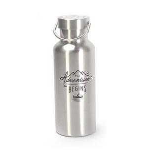 The Adventure Begins Gentleman's Stainless Steel Water Bottle 500ml Thumbnail 2