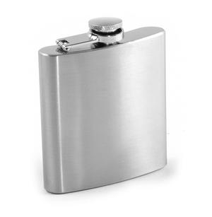 6oz Classic Hip Flask with Sand Mirror Finish Thumbnail 1