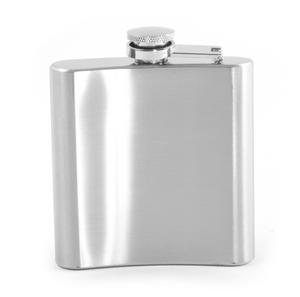 6oz Classic Hip Flask with Sand Mirror Finish Thumbnail 3