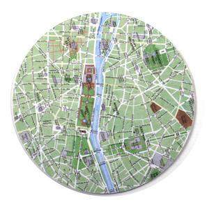 Paris Map - Map Coasters