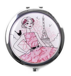 Parisienne! La Romantique - Compact Mirror / Miroir de poche