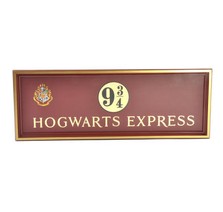 Harry Potter Replica Hogwarts Express Kings Cross Platform 9 3/4 Sign