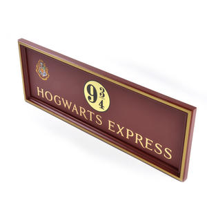 Harry Potter Replica Hogwarts Express Kings Cross Platform 9 3/4 Sign Thumbnail 2
