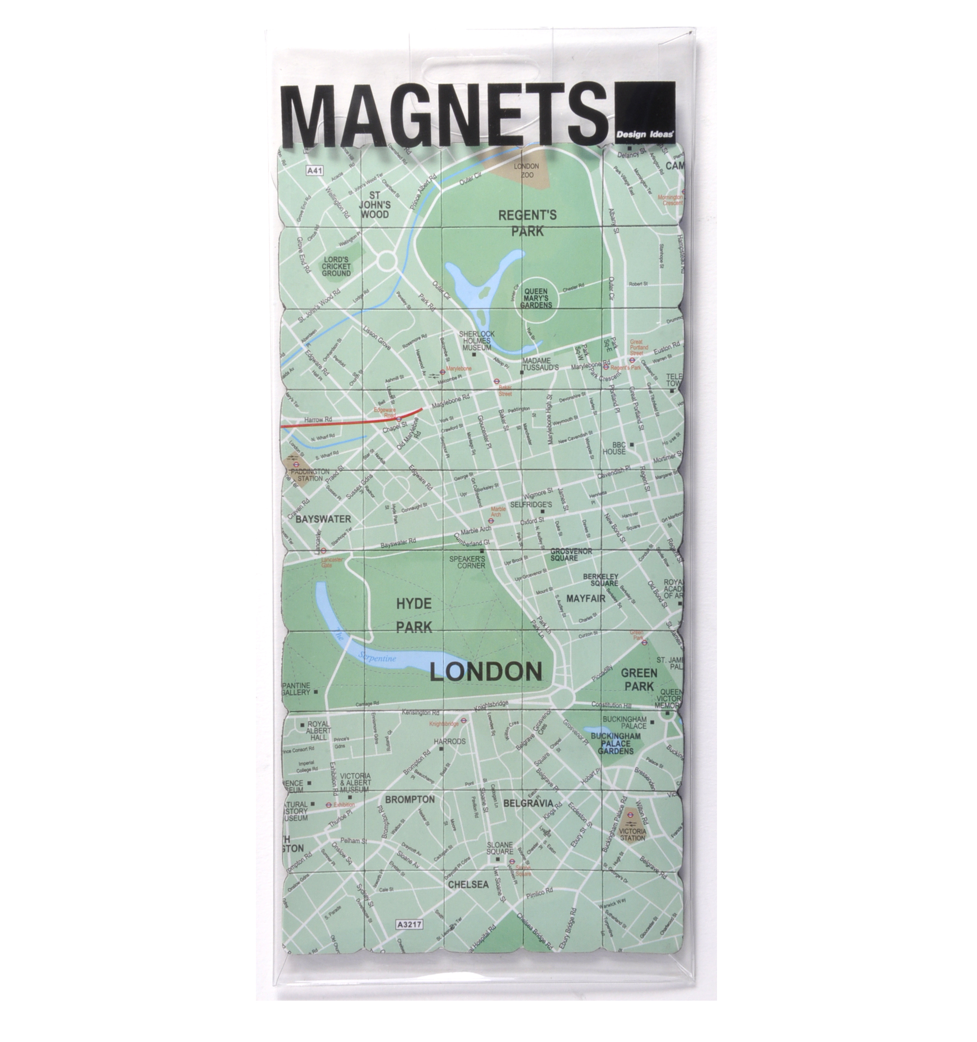 London City Map Fridge Magnet Puzzle Learn the City Map – London City Map