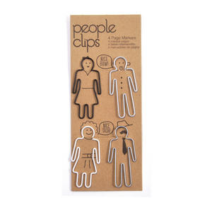 People Clips -  Paper Clips Set - 4 Fun Page Markers / Paper Clips