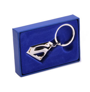 Superman Returns Silver Logo Deluxe Boxed Steel Key Fob