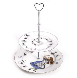 Alice in Wonderland Two Tier Cake Stand Thumbnail 1