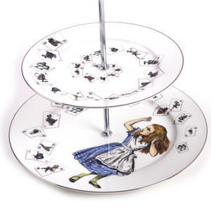 Alice in Wonderland Two Tier Cake Stand Thumbnail 2