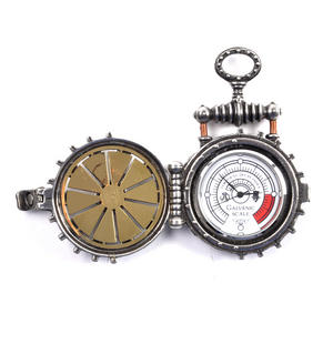 Solar Powered Turbine EER Pewter Steampunk Fob Pocket Watch