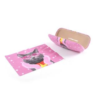 Cat Superstar Glasses Case and Lens Cloth Set