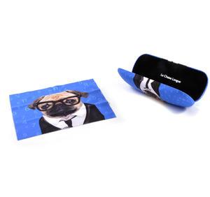 Pug Geek Glasses Case and Lens Cloth Set