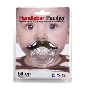 Dummy Pacifier - Handlebar Moustache