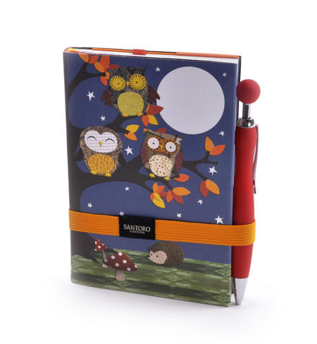 Night Owls Premium Journal with Pen by Santoro