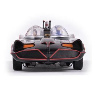 Batmobile Model - Classic 1966 with Batman & Robin Bendable Action Figures Thumbnail 1