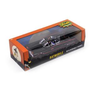 Batmobile Model - Classic 1966 with Batman & Robin Bendable Action Figures Thumbnail 3