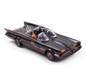 Batmobile Model - Classic 1966 with Batman & Robin Bendable Action Figures Thumbnail 4