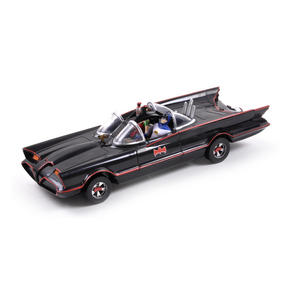 Batmobile Model - Classic 1966 with Batman & Robin Bendable Action Figures Thumbnail 5