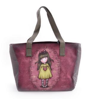 Heartfelt Shopper Bag With Pockets By Gorjuss
