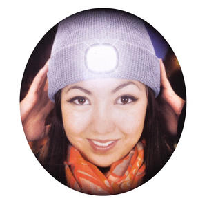 LED Beanie - Beanie hat with built in LED torch.