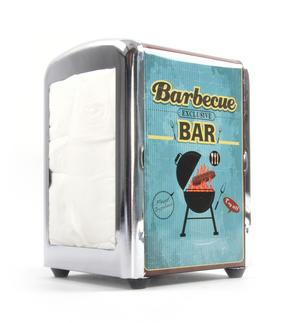 Barbecue Bar Diner Napkin / Serviette Dispenser Thumbnail 1