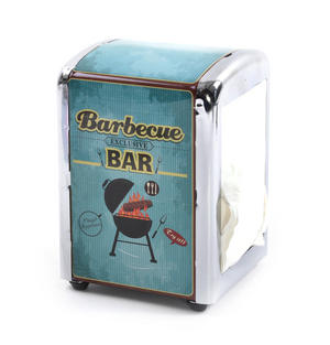 Barbecue Bar Diner Napkin / Serviette Dispenser Thumbnail 2
